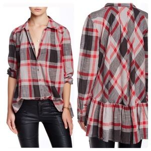 Free People Preppy In Plaid Button-down Top